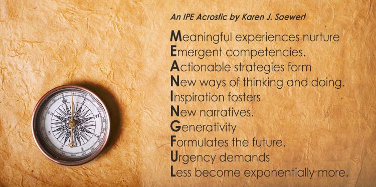 Meaningful IPE by Karen Saewert